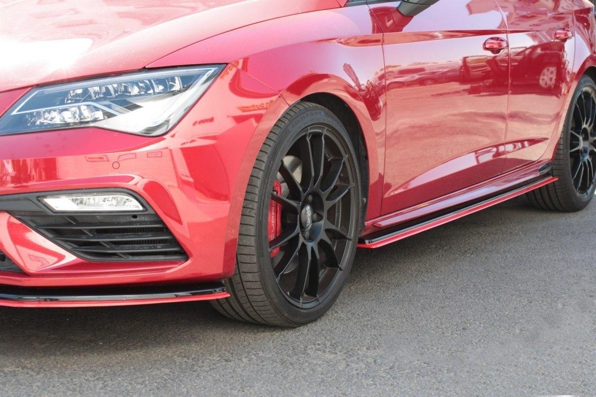 Dokładki Progów v.3 Seat Leon Mk3 Cupra Facelift - GRUBYGARAGE - Sklep Tuningowy